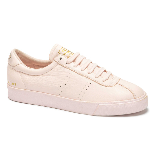 Superga 2843 Clubs Tumbled Leatheru - Pink | Shop Superga at IKON NZ