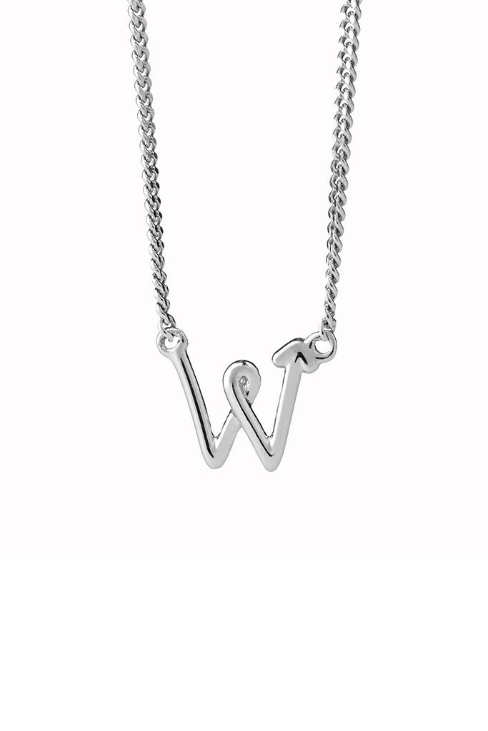 KW Initial Necklace - 45cm chain