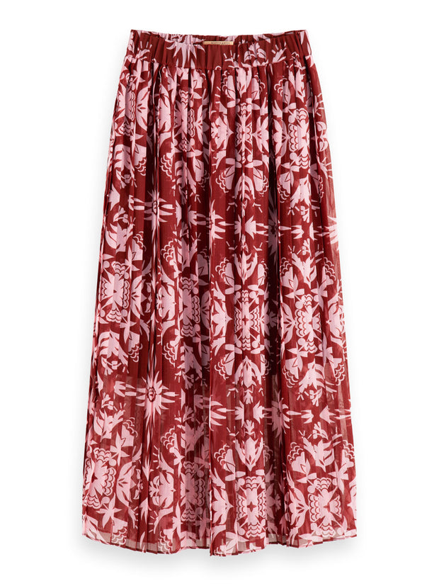 Womens Printed Skirt with pleats - Combo B