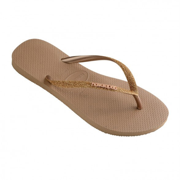 Slim Glitter Logo Metallic Print | Shop Havaianas at Ikon Arrowtown