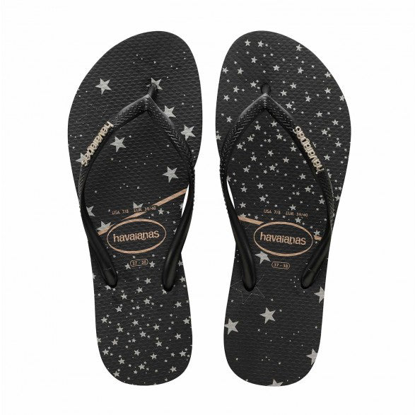 Slim Logo Metallic Star Print | Shop Havaianas online at Ikon Arrowtown