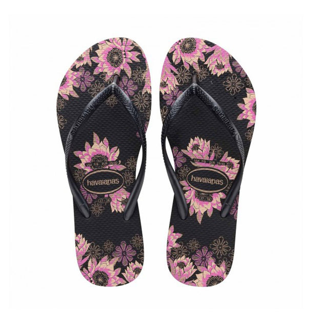 Womens Slim Organic - Black/Rose Gold | Shop Havaianas at IKON in Arrowtown, NZ