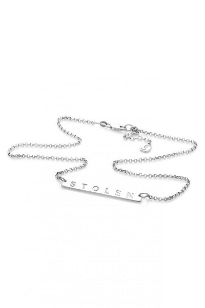 Stolen Plank Necklace Silver | Shop Stolen Girlfriends Club at IKON in Arrowtown, NZ