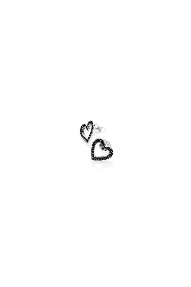 Stoned Heart Stud Earrings shop online or in store at IKON