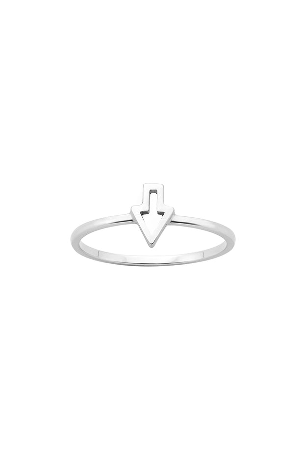 KW Superfine Runaway Arrow Ring Silver