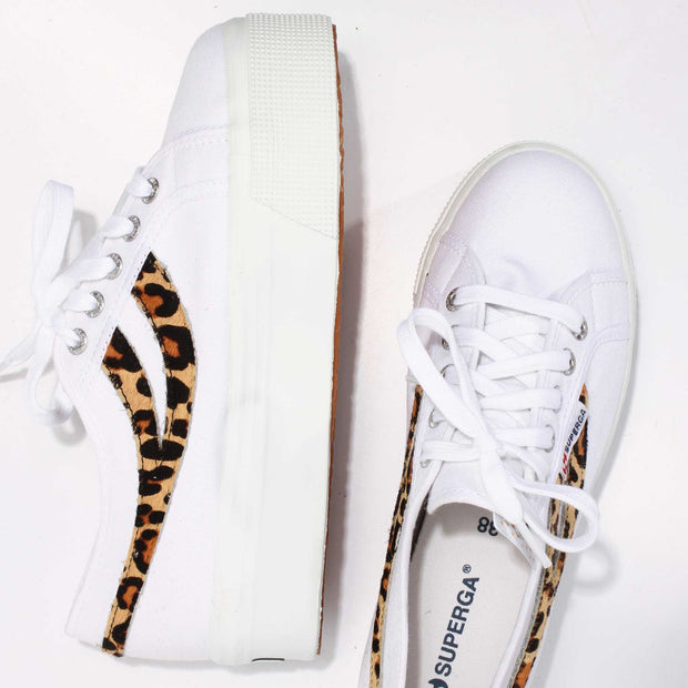 Superga 2892 Cotw Ponyhair - White-Cheetah