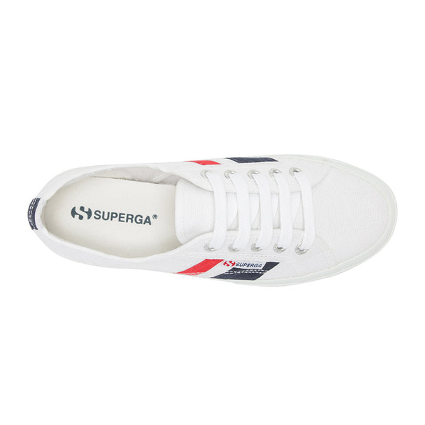 Superga 2750 Cotuflagside - White/Blue/Red