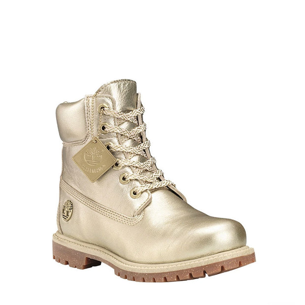 "Womens Icon 6"" Premium - Gold Metallic"