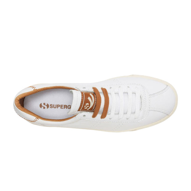 Superga 2869 Club S Comfleaw Zigzag - White/Brown/Bronze