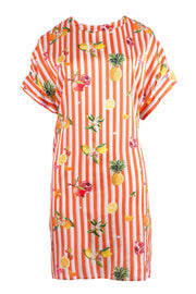Cooper Sunset Shift Dress - Orange Stripe