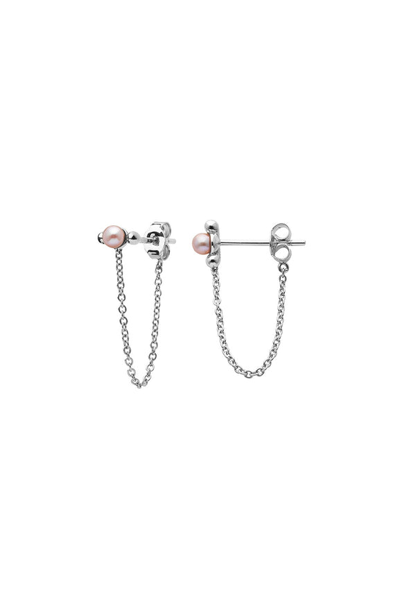 Vermeer Pearl Earrings - Silver
