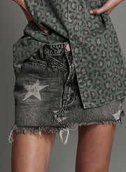 Trucker Mid Waist Skirt - Camden Star