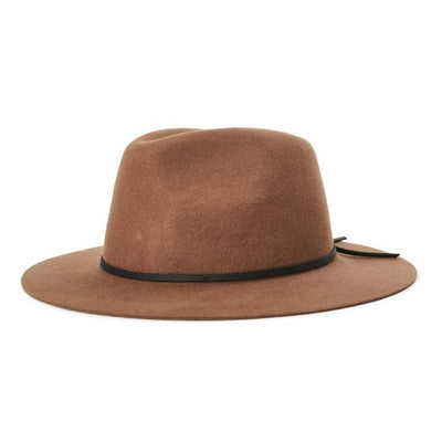 Brixton Wesley Fedora - Bison/Black shop online or in store at IKON