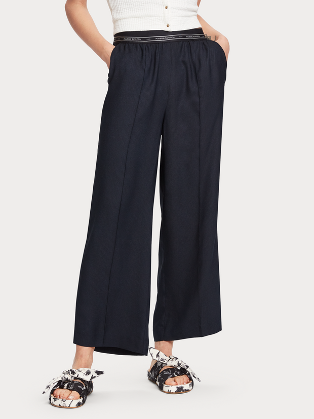 Womens Pants with sporty elastic waistbands - Night