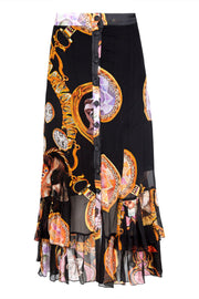 Cooper Frill Me On Skirt - Black/Animal