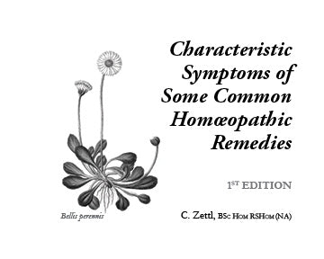 Characteristic Symptoms of Some Common Homeopathic Remedies (paperback)