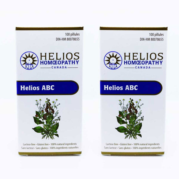 *2 for 1* Helios ABC for Teething and Earaches in Children - Lactose Free Homeopathic Remedy Combination with Aconitum, Belladonna, and Chamomilla 30c
