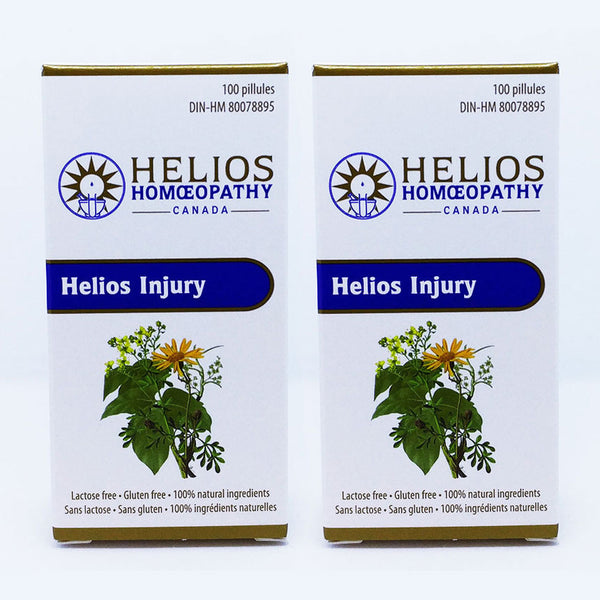 *2 for 1* Helios Injury - Lactose Free Homeopathic Remedy for Strains and Sprains
