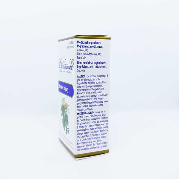 Helios Injury - Lactose Free Homeopathic Remedy for Strains and Sprains