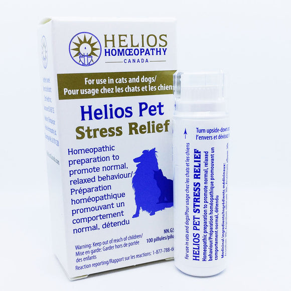 Helios PET Stress Relief for Cats and Dogs - Vegan Homeopathic Remedy
