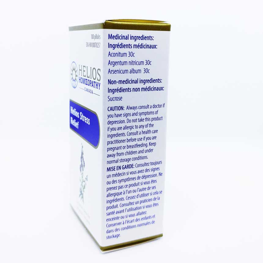 Helios Stress Relief Ages 12 and Over - Lactose Free Homeopathic Remedy