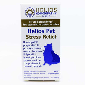 Helios PET Stress Relief for Cats and Dogs - Lactose Free Homeopathic Remedy