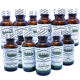 12 Cell Salt Kit - Vegan Lactose-Free Schuessler Salts in 6X potency