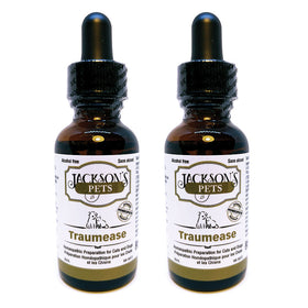 *2 for 1* Jackson's PETS Traumease for Cats and Dogs - Alcohol-Free Homeopathic Remedy for Joints, Muscles, Ligaments, Tendons