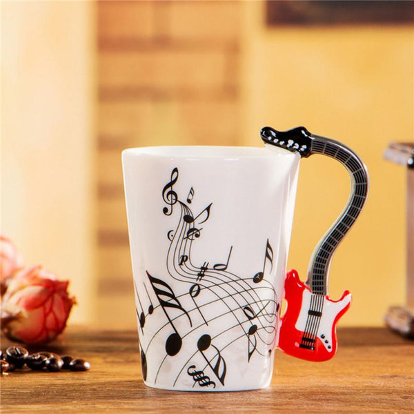 Groovy Guitar Coffee Mug - For The Music Lover!