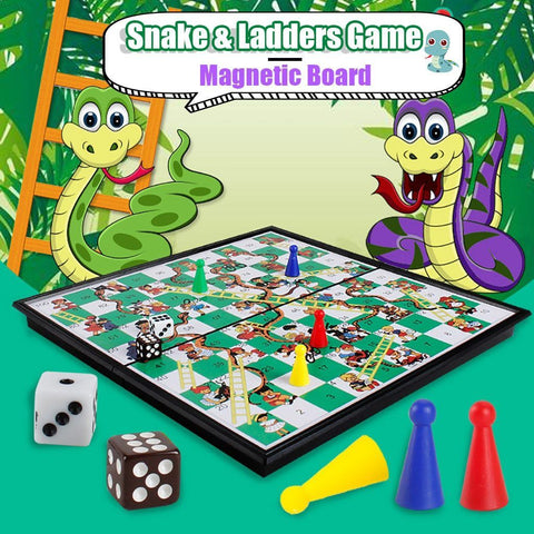 Snakes and Ladders Folding Magnetic Board Game