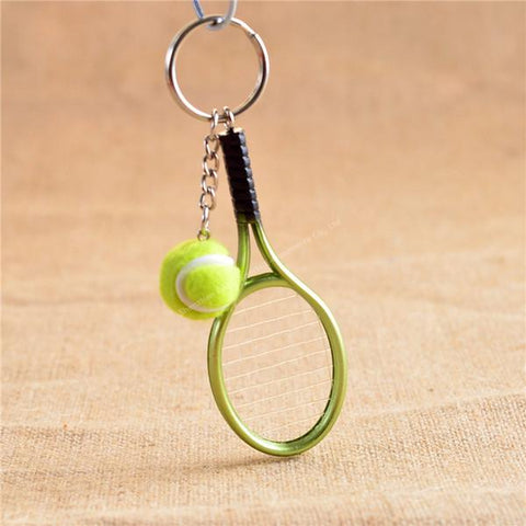 Novelty Tennis Racket and Ball Key-chain