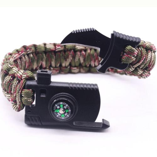 Braided Paracord Outdoor Survival Bracelet