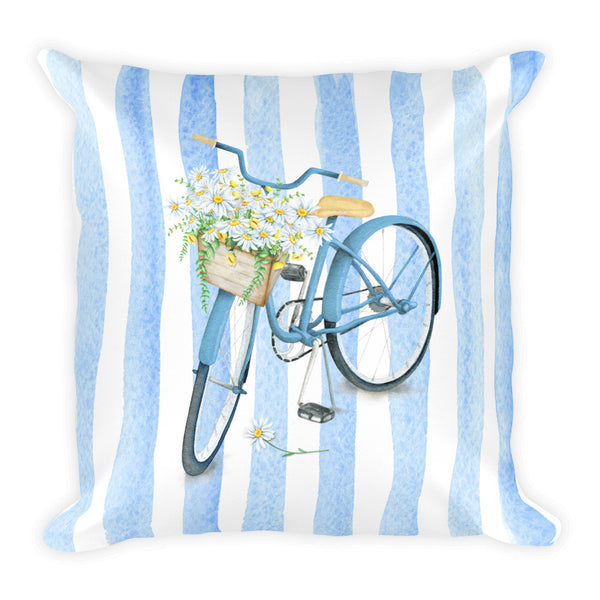 """Take Me To The Beach"" Square Pillow Cover (cover only, no insert included)"