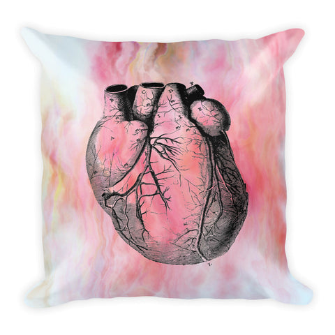 """Medical Heart"" Square Pillow w/ Insert"