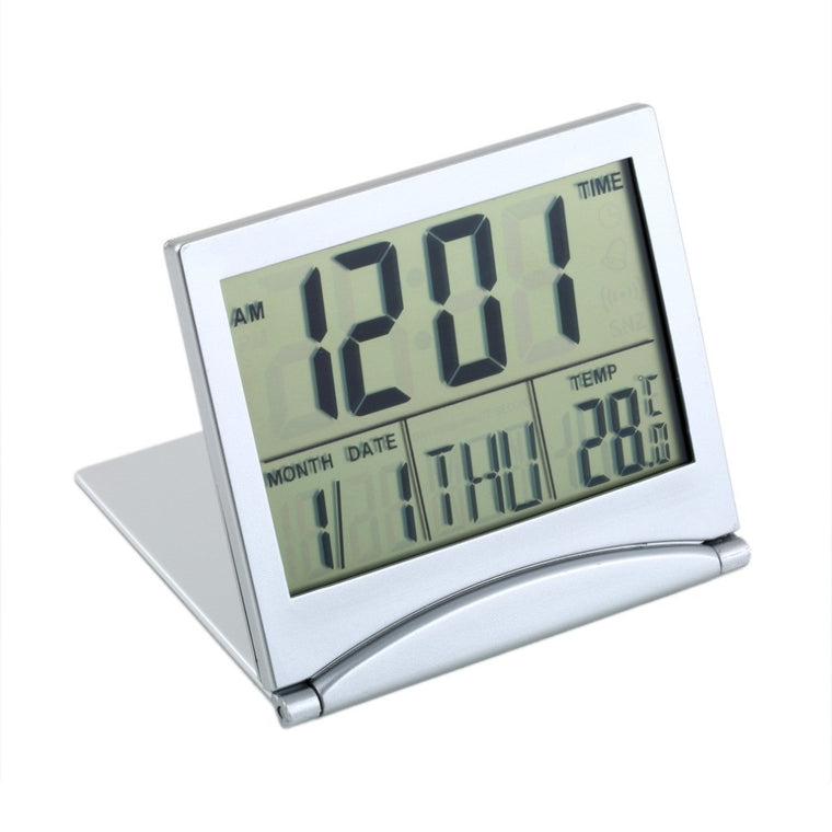 Mini LCD Desk Alarm Clock with Calendar and Theromometer