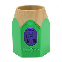 Pencil Shaped Alarm Clock With Pen / Pencil Holder