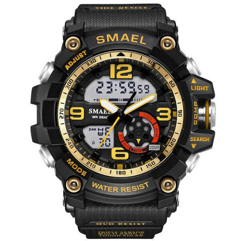 Men's LED Army Watch with Calendar and Alarm