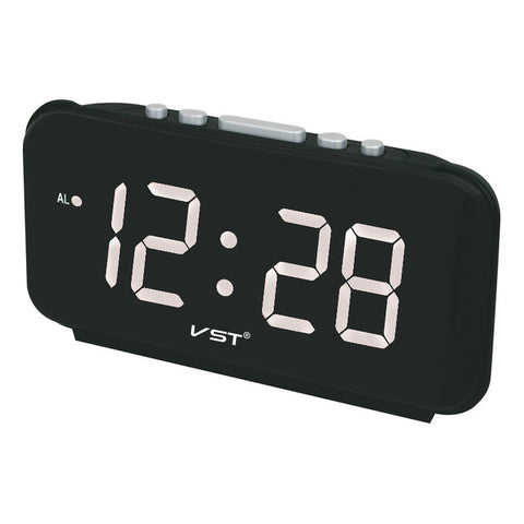 Bright LED Digital Desktop Alarm Clock With Built-In Extra Loud Alarm
