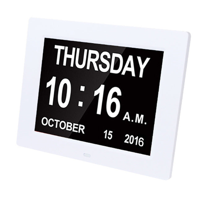 Thin Electronic LED Digital Wall, Table or Desk Clock Calendar Panel