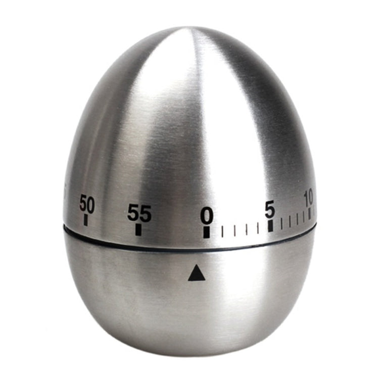 Egg Shaped Stainless Steel Kitchen Countdown Timer for Cooking & Baking