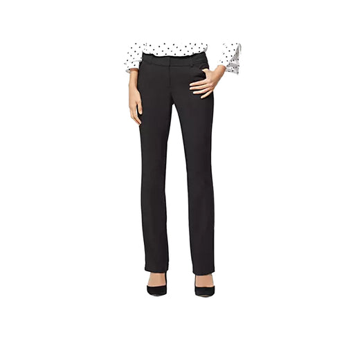 Jones New York Black Straight Leg Slacks Pants