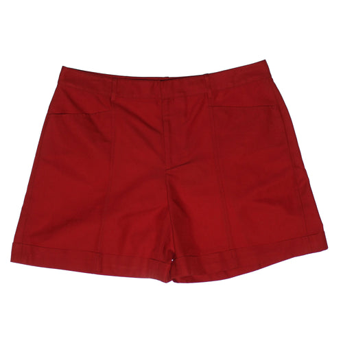 Ralph Lauren Black Label Red Silk / Cotton Adele Shorts