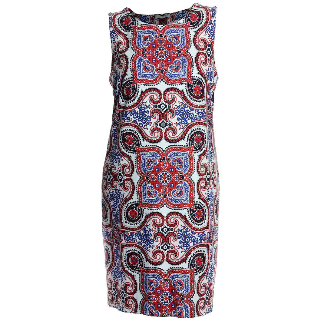 Charter Club Multi Color Printed Sleeveless Dress