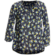 Style & Co Yellow or Blue Lace-Up Floral Print High-Low Blouse Plus Size