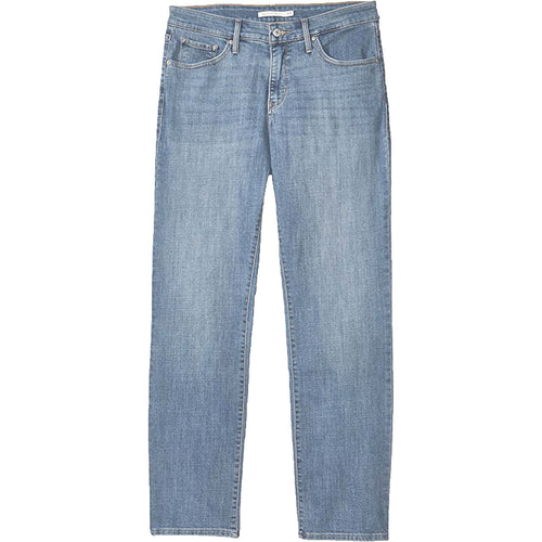 Levi's Blue Stretch Denim 324 Shaping Straight Mid-Rise Jeans Plus Size