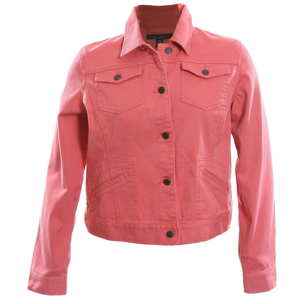 Ralph Lauren Pink Denim Long Sleeve Jean Jacket