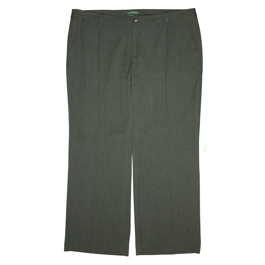Ralph Lauren Gray Andover Wide Leg Slimming Slacks Pants