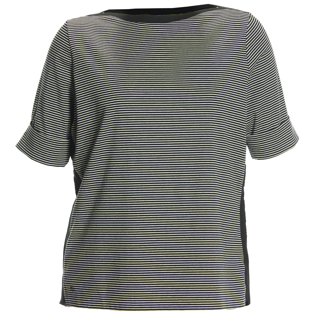 Ralph Lauren Striped Elbow Length Sleeve Boatneck Tee