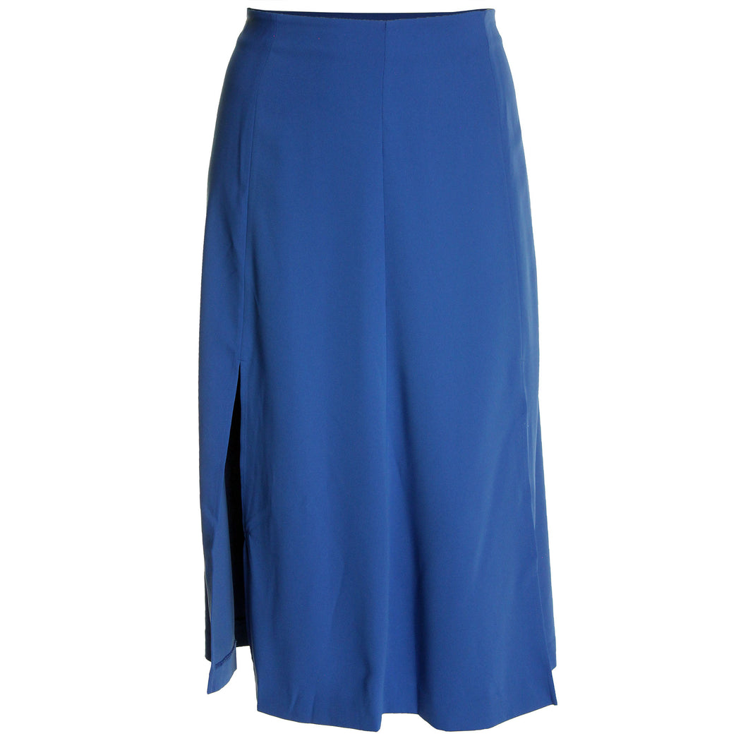 Ralph Lauren Blue Midi Length Split Skirt