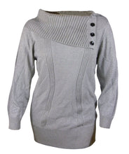 Style & Co Silver or Black Long Sleeve Button Detail Sweater